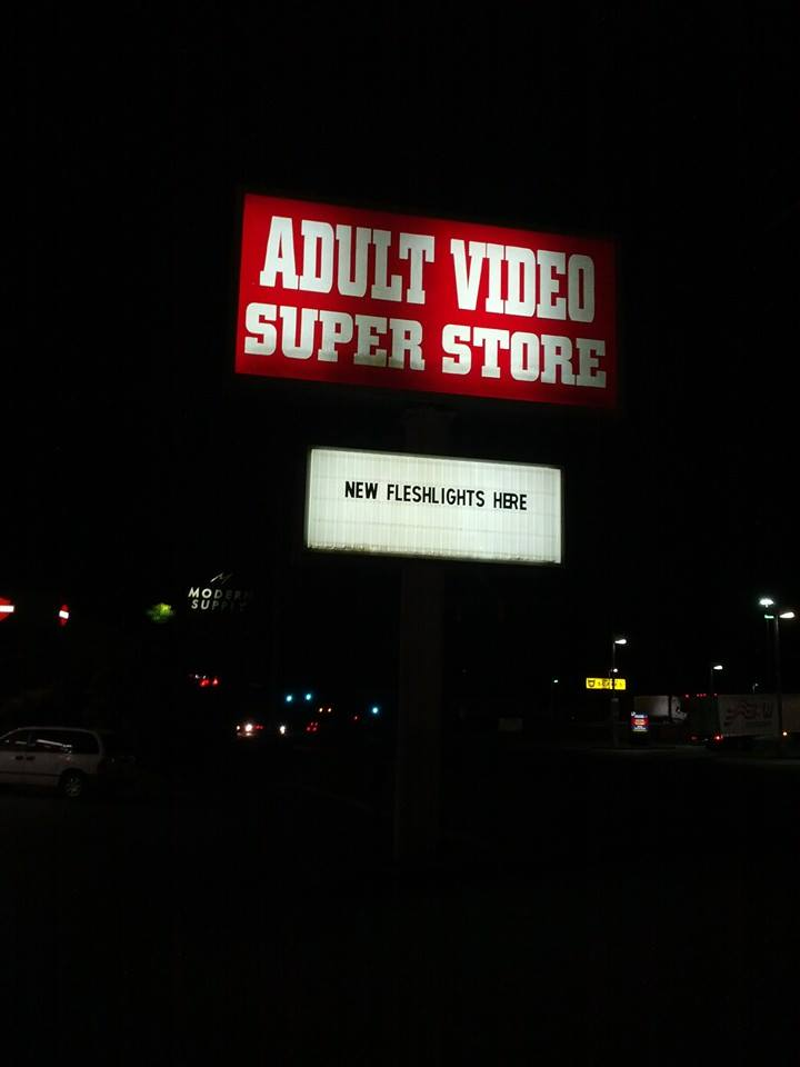 Adult stores Adult Video super store billboard advertising fleshlights