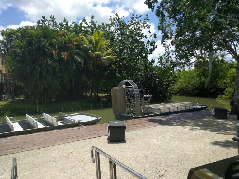 Airboat in the everglades