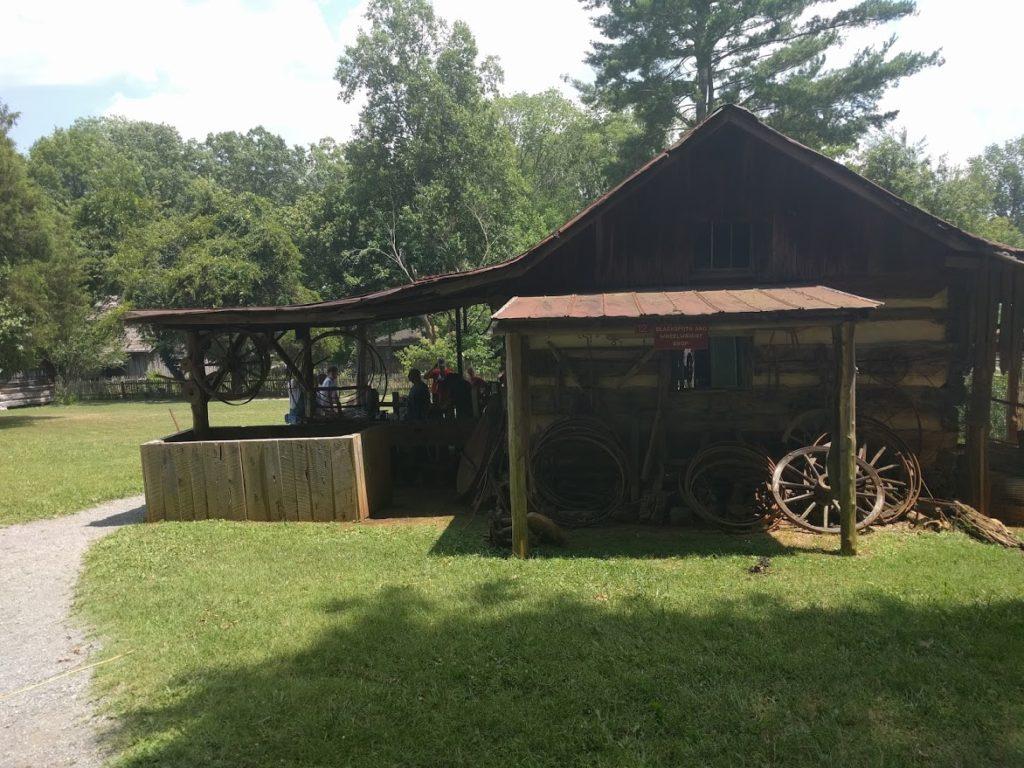 blacksmith at Museum of Appalachia