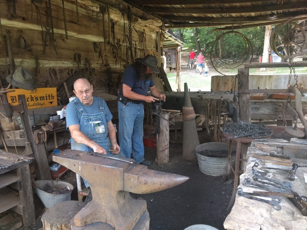 blacksmithing at Museum of Appalachia