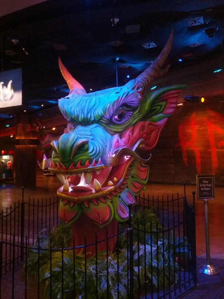 Dragon at entrance to Cirque Du Soleil Las Vegas