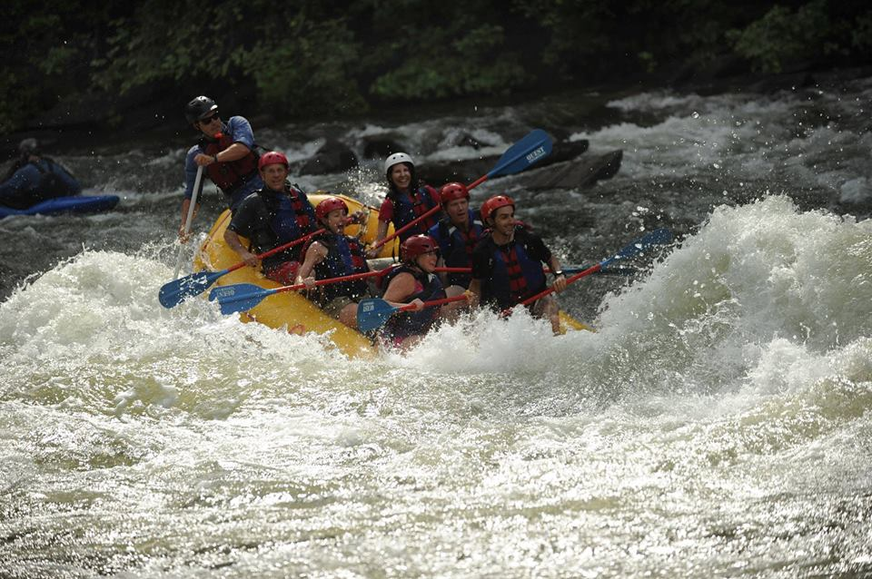 whitewater rafting middle Ocoee