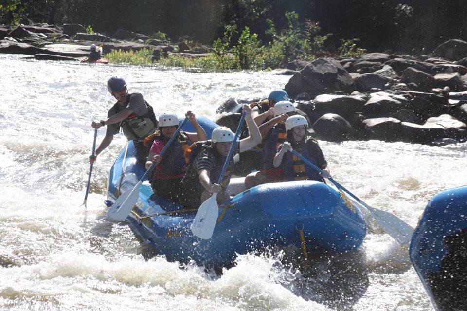 Whitewater rafting upper ocoee river