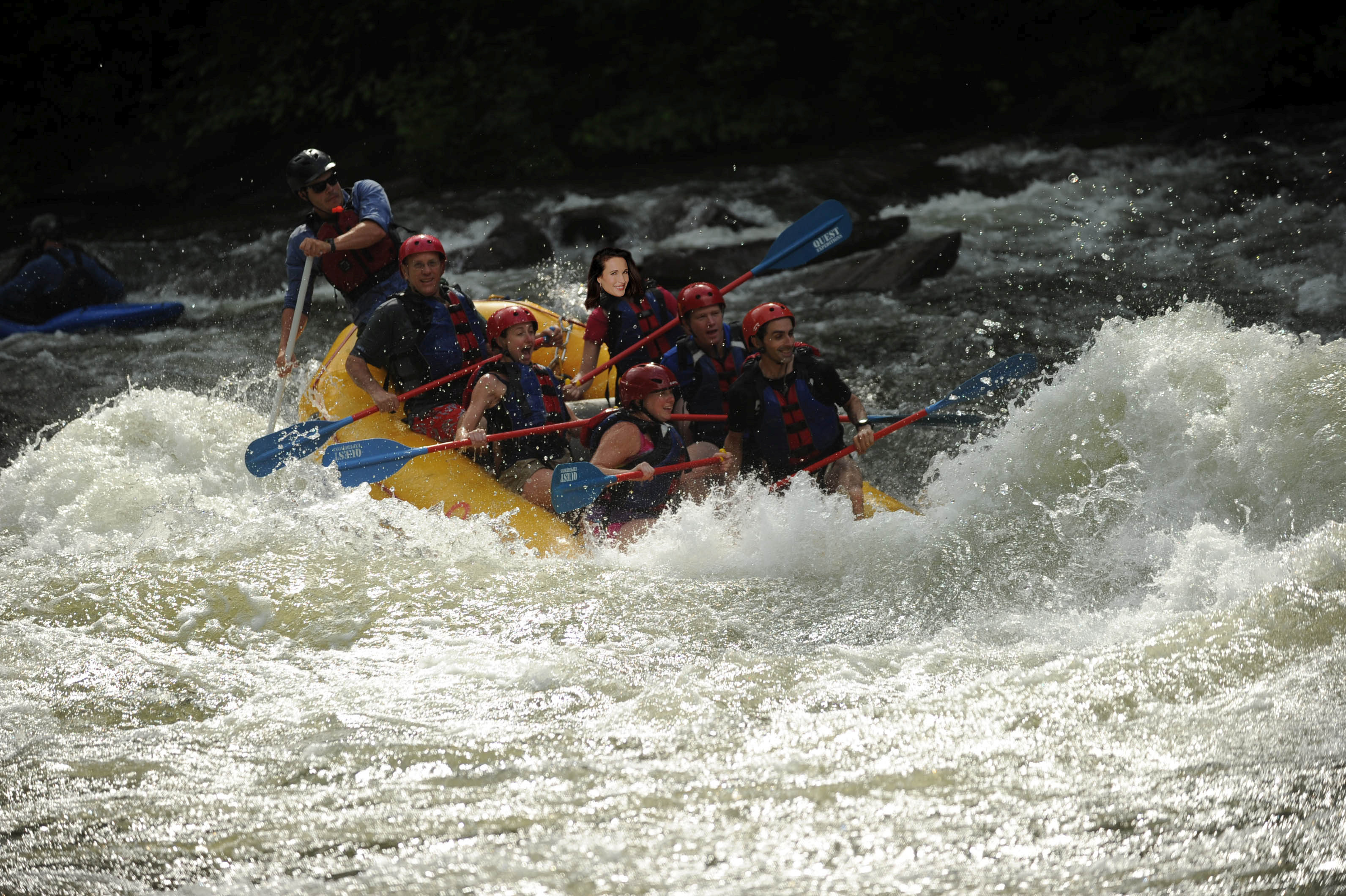 whitewater rafting middle Ocoee photoshopped