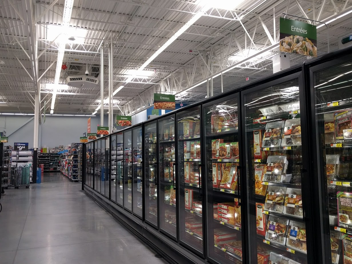 Entrées section at Walmart