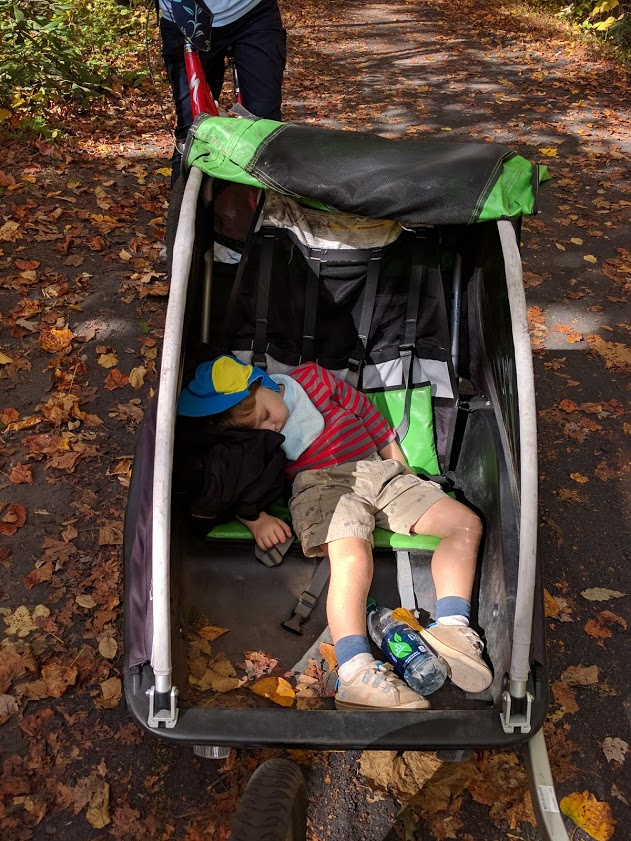 Exhausted buggy passenger, Virginia Creeper Trail