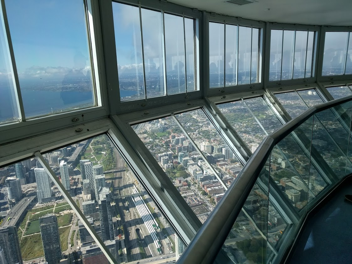 CN Tower skypod view